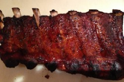 Alex's Baby Back Ribs 3- 1.5 lbs precooked ribs with BBQ sauce. $33.00 plus shipping. 